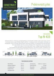 Datenblatt Serie Newstyle Typ N433 - Construct Massivhaus