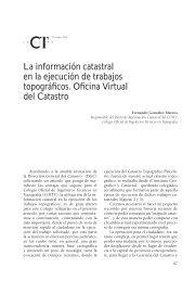 La información catastral en la ejecución de trabajos ... - Catastro