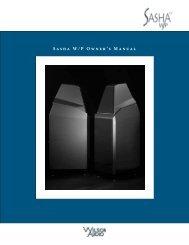 Sasha W/P Owner's Manual - Wilson Audio