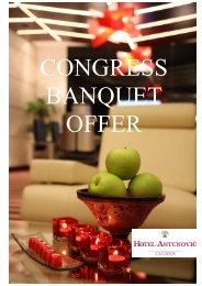 Congress-banquet offer - Hotel Antunović - Zagreb
