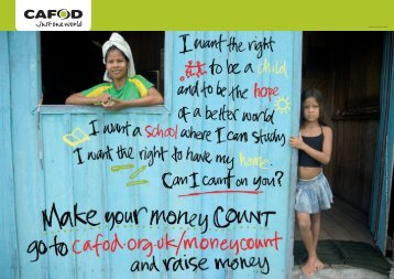 GROUP PrimaryMake your Money Count Poster - Cafod