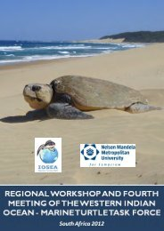 IOSEA Marine Turtle Site Network Pilot Spatial Analysis using Marxan
