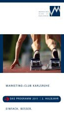 MARKETING-CLUB KARLSRUHE EINFACH. BESSER.