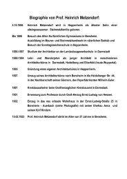 Biographie von Prof -  Heinrich Metzendorf Schule