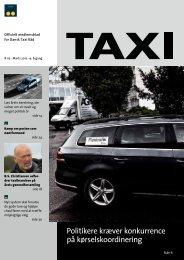 Politikere kræver konkurrence på ... - Dansk Taxi Råd