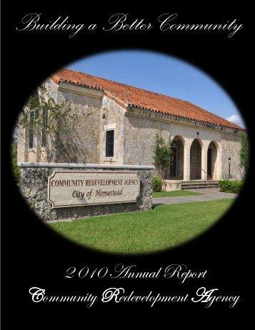 2010 CRA Annual Report - City of Homestead