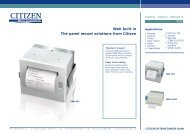Well built in The panel mount solutions from Citizen - MaRCo