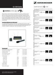 G2 300 Series - stagecraft fundamentals