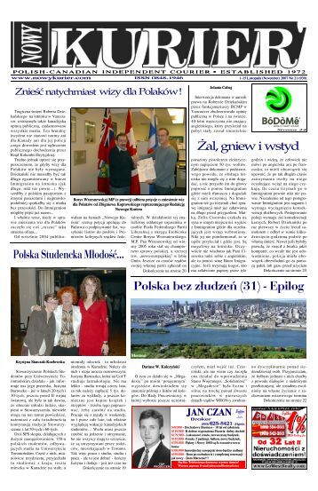 (November) 2007r. No 21 (939) - Nowy Kurier