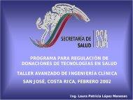 Programa para regulación de donaciones de tecnologías en salud