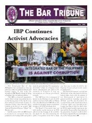 The Bar Tribune Vol. 5 No. 4 - May 2008 - Integrated Bar of the ...