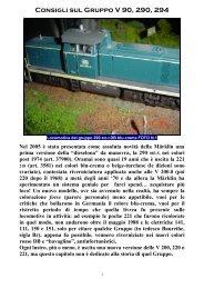 Capitolo 023° Prove e consigli sul Gruppo V 90, 290 ... - 3Rotaie.it