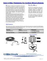 Tape and Reel - Mini-Circuits