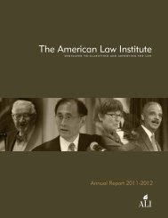2011-2012 Annual Report - American Law Institute
