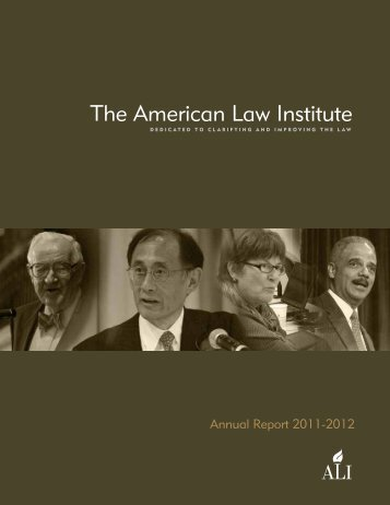 2011-2012 Annual Report - American Law Institute