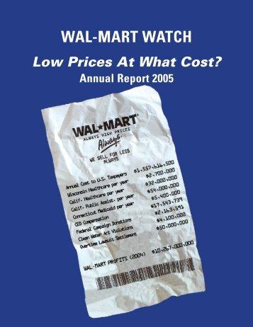 WAL-MART WATCH - Making Change at Walmart