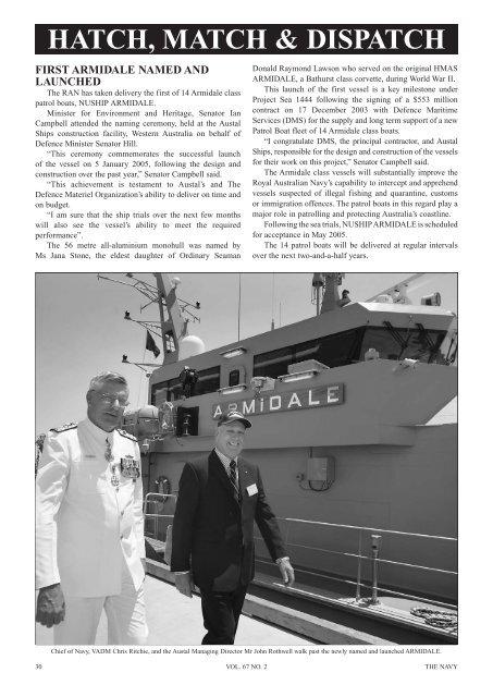 The Navy Vol_67_No_2 Apr 2005 - Navy League of Australia