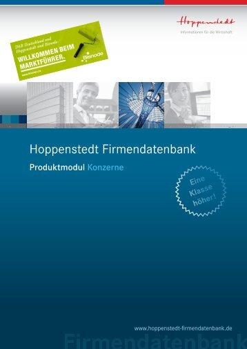 Konzernstrukturen - Hoppenstedt Firmendatenbank