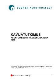 KÄVIJÄTUTKIMUS as messut hämeenlinnassa 2007 - Asuntomessut