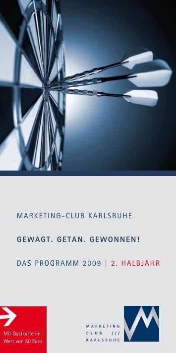 2. Halbjahr als PDF - Marketing - Club Karlsruhe