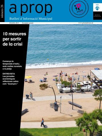 10 mesures per sortir de la crisi - Ajuntament de Pineda de Mar