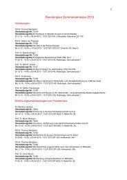 Stundenplan SS 2013