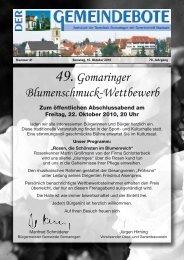 Ausgabe :Gomaringen 16.10.10.pdf - Gomaringer Verlag
