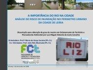 A Importância do Rio na Cidade - Território, Ambiente e ...