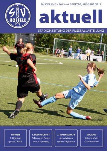 Die aktuelle Stadionzeitung - SV Hoffeld