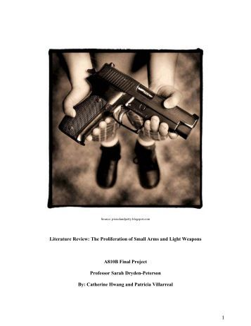 1 Literature Review: The Proliferation of Small Arms and ... - INEE