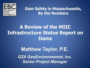 Dam Safety in Massachusetts - Environmental Business Council of ...