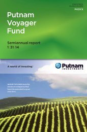 Semiannual report - Putnam Investments