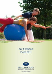Kur & Therapie Preise 2011 - Download brochures from Austria