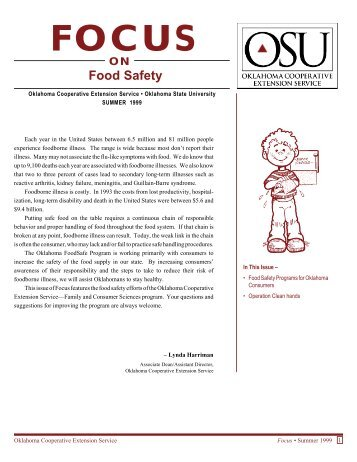Food Safety - Family and Consumer Science - Oklahoma State ...