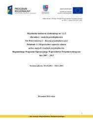 1) Regulamin konkursu 1.1.5 - Regionalny Program Operacyjny ...