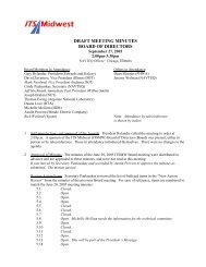 Board of Directors Meeting Minutes (Sep. 2005) - ITS Midwest
