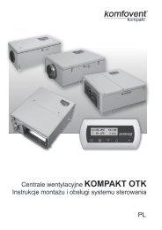Centrale wentylacyjne KOMPAKT OTK Instrukcje ... - Komfovent