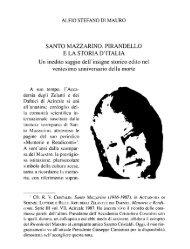 Di Mauro A. S., Santo Mazzarino, Pirandello e la storia d'Italia