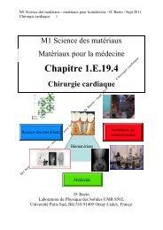 Chapitre 1.E.19.4 Chirurgie cardiaque