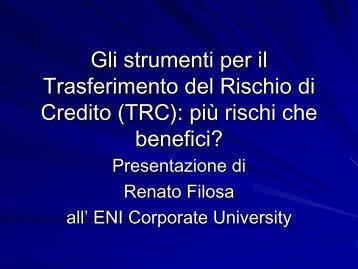 Gli strumenti per il Trasferimento del Rischio di Credito ... - IAASM