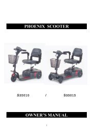 PHOENIX SCOOTER OWNER'S MANUAL