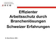 Dr. Eduard Brunner, SECO - Sidi Blume