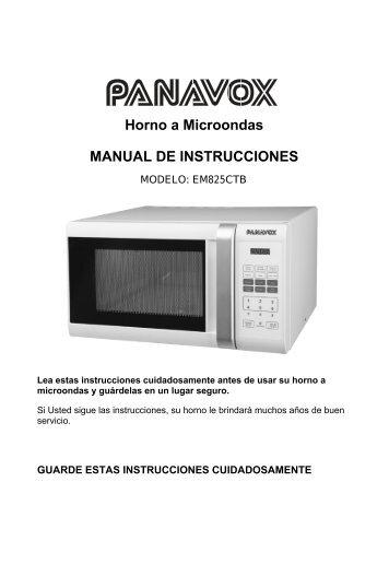 horno a microondas manual de