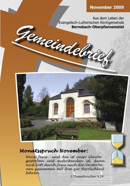 November 2009 Monatsspruch November: - posaunenchor ...