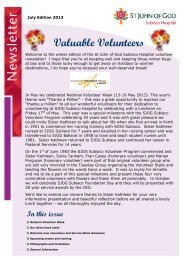 Read our Volunteer newsletter - St John of God Health Care