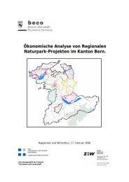 Ökonomische Analyse von Regionalen Naturpark ... - Berggebiete.ch