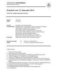 Protokoll der Gemeindeversammlung 13.12.2013 - Unteriberg