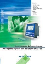 Linha Avançada de Transmissores - METTLER TOLEDO