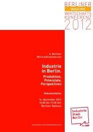 Dokumentation als PDF - Berliner Wirtschaftskonferenz