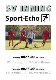 Heimspiel 6 - SV Inning am Ammersee